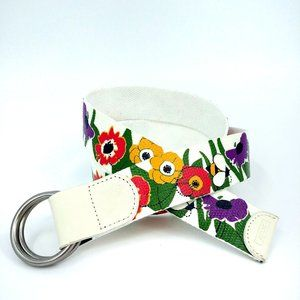 💥 3/$25 Relic Poppies & Bees Coated Canvas Belt